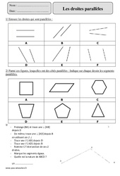 Droites parallèles – Cm2 – Exercices corrigés – Géométrie – Mathématiques – Cycle 3