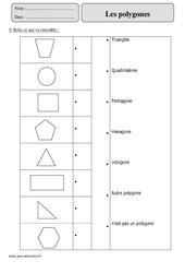 Polygones – Cm2 – Exercices corrigés – Géométrie – Mathématiques – Cycle 3
