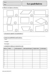 Quadrilatères – Cm2 – Exercices corrigés – Géométrie – Mathématiques – Cycle 3