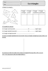 Triangles – Cm2 – Exercices corrigés – Géométrie – Mathématiques – Cycle 3
