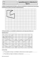 Agrandissement - Réduction de figure – Cm2 – Exercices corrigés – Géométrie – Mathématiques – Cycle 3