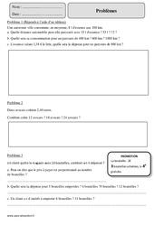 Situation de proportionnalité – Problèmes – Cm2 – Exercices corrigés – Mathématiques – Cycle 3