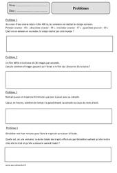 Mesures de temps - Problèmes – Cm2 – Exercices corrigés – Mathématiques – Cycle 3