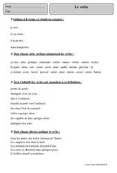 Verbe - Cm2 – Exercices corrigés – Grammaire