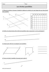 Droites parallèles – Cm1 – Exercices corrigés – Géométrie – Mathématiques – Cycle 3