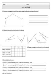Angles – Cm1 – Exercices corrigés – Géométrie – Mathématiques – Cycle 3