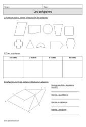 Polygones – Cm1 – Exercices corrigés – Géométrie – Mathématiques – Cycle 3