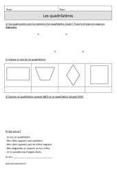 Quadrilatères – Cm1 – Exercices corrigés – Géométrie – Mathématiques – Cycle 3