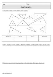 Triangles – Cm1 – Exercices corrigés – Géométrie – Mathématiques – Cycle 3