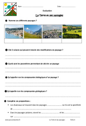 La Terre et ses paysages - 6ème - Evaluation - Bilan