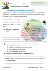 Développement durable – 6ème – Exercices
