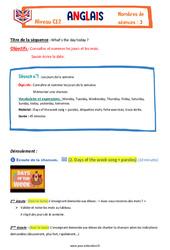 Anglais - Ce2 - Tout le programme période 3 - Famille Vadrouille