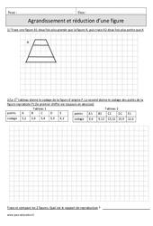 Agrandissement et réduction d'une figure – Cm1 – Exercices corrigés – Géométrie – Mathématiques – Cycle 3