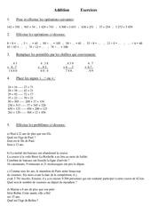 Addition – Cm1 – Exercices – Calcul – Mathématiques – Cycle 3