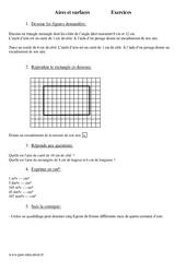 Surfaces – Aires – Mesures – Cm1 – Exercices – Mathématiques – Cycle 3