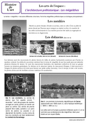 Architecture préhistorique - Arts de l'espace - Ce2 - Histoire de l'art - Cycle 3