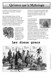 Qu'est-ce que la mythologie - Art du langage - Ce2 - Cm1 - Histoire des arts - Cycle 3