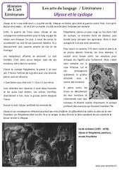 Ulysse et le cyclope - Art du langage - Ce2 - Cm1 - Histoire des arts - Cycle 3