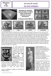 Arts antiques – Art du visuel -  Ce2 – Cm1 – Histoire des arts – Cycle 3