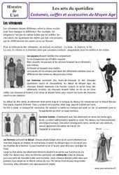 Costumes et coiffes  du Moyen Age – Arts du quotidien – Cm1 – Histoire des arts – Cycle 3