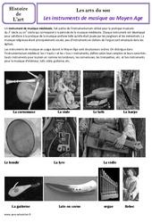 Instruments de musique du moyen âge - Arts du son – Cm1 – Histoire des arts – Cycle 3