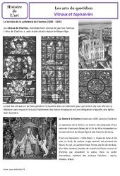 Vitraux et tapisseries au moyen âge – Arts du quotidien – Cm1 – Histoire des arts – Cycle 3