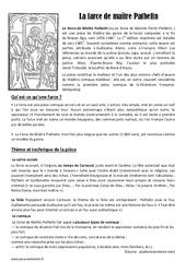 Farce de Maître Patelin – Arts du langage – Cm1 – Histoire des arts – Cycle 3