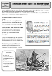 Heureux qui comme Ulysse a fait un beau voyage – Cm1 – Cm2 – Arts du langage – Histoire des arts – Cycle 3