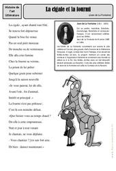 La cigale et la fourmi – Jean de La Fontaine – Cm1 – Cm2 – Arts du langage – Histoire des arts – Cycle 3