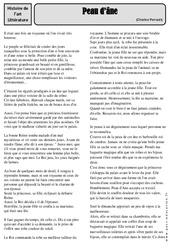 Peau d'âne - Charles Perrault - Conte – Cm1 – Cm2 – Arts du langage – Histoire des arts – Cycle 3
