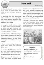 Le chat botté - Charles Perrault - Conte - Ce2 - Cm1 – Arts du langage – Histoire des arts – Cycle 3