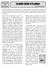 La petite sirène et le prince – Hans Christian Andersen – Arts du langage – XIXe siècle –  Cm1 – Cm2 – Histoire des arts – Cycle 3