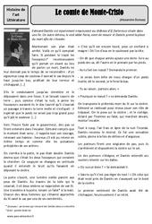 Le conte de Monte-cristo – Alexandre Dumas – Arts du langage – XIXe siècle –  Cm1 – Cm2 – Histoire des arts – Cycle 3