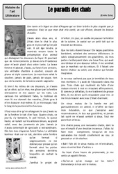 Le paradis des chats – Emile Zola – Arts du langage – XIXe siècle – Cm1 – Cm2 – Histoire des arts – Cycle 3