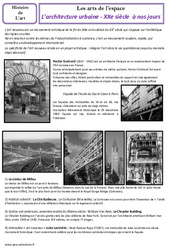Architecture urbaine du XXe à nos jours – Arts de l'espace – Cm2 – Histoire des arts – Cycle 3