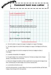 Comment bien tenir son cahier - Ce2 - Cm1 - Cm2 - Méthodologie - Cycle 3