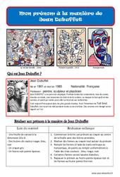 Mon prénom à la manière de Jean Dubuffet – Arts plastiques –  Ce2 – Cm1 – Cm2 – Cycle 3