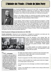 L'histoire de l'école – l'école de Jules Ferry – CP – Ce1 – Lecture de la rentrée – Cycle 2