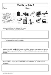 Rentrée - Problèmes - Cm2 - Mathématiques - Cycle 3