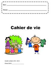 Cahier de vie – Page de garde – Maternelle – Petite, moyenne et grande section – PS – MS – GS