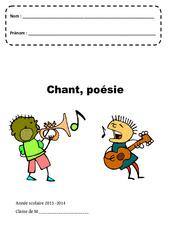 Chant – Poésie – Page de garde – Maternelle – Petite, moyenne et grande section – PS – MS – GS