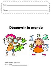 Découvrir le monde – Page de garde – Maternelle – Petite, moyenne et grande section – PS – MS – GS