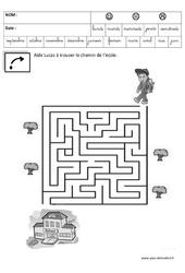 Retrouve le chemin de l'école – Jeux de la rentrée – Maternelle – Petite, moyenne et grande section – PS – MS – GS