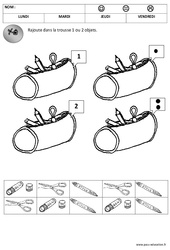1 et 2 – Quantités – Rentrée – Moyenne section – Cycle 1