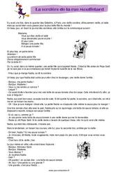 La sorcière de la rue Mouffetard – Halloween – Récit – Ce2 – Cm1 – Cm2 – Cycle 3