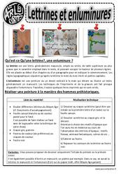 Lettrines et enluminures – Ce1 – Ce2 – Cm1 – Cm2 – Arts visuels – Cycle 3