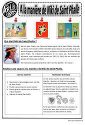 A la manière de Niki de St Phalle – Ce1 – Ce2 – Cm1 – Cm2 – Arts visuels – Cycle 3