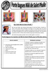 Porte bague Niki de Saint Phalle – Fête des mères – Ce1 – Ce2 – Cm1 – Cm2 – Arts plastiques – Cycle 3