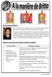 Britto - Portraits – Ce1 - Ce2 – Cm1 – Cm2 – Arts visuels – Cycle 3
