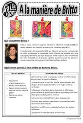 Britto - Portraits – Ce1 - Ce2 – Cm1 – Cm2 – Arts visuels – Cycle 3